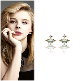 SAT8195Twinkle Saturn Earrings