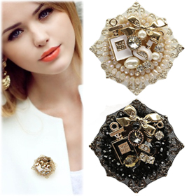SAT13642Perfume Beads Point Brooch