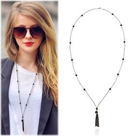 SAC14241Metal Tassel Necklace
