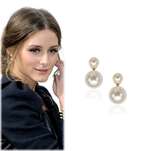 SAT7872Double Pearl Earrings