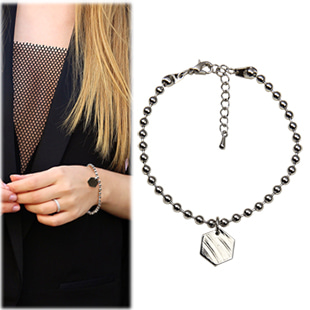 SAC13849Stylish Metal Beads Bracelet